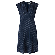 Buy Jigsaw Polka Dot Tea Dress, Navy Online at johnlewis.com
