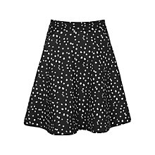 Buy Reiss Rosalia Spot Print Skirt, Black Online at johnlewis.com