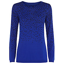 Buy Planet Leopard Print Jumper, Cobalt Online at johnlewis.com