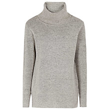 Buy Reiss Sergant Luxury Roll Neck Jumper, Dove Grey Online at johnlewis.com