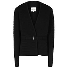 Buy Reiss Mo Knit Textured Jacket. Black Online at johnlewis.com