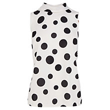 Buy Coast Queens Roll Neck Shell Top, White/Black Online at johnlewis.com