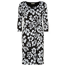Buy Precis Petite Floral Dress, Black Online at johnlewis.com