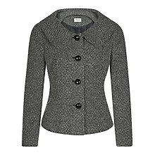 Buy Precis Petite Tweed Boucle Jacket, Grey Online at johnlewis.com