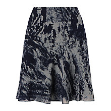 Buy Jigsaw Watermark Print Silk Skirt, Navy Online at johnlewis.com