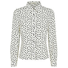 Buy Precis Petite Spot Print Blouse, Ivory Online at johnlewis.com