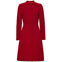 Buy Jaeger Wool And Cashmere Waist Coat, Red Online at johnlewis.com