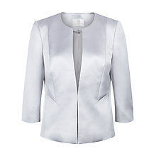 Buy Jacques Vert Satin Jacket, Platinum Online at johnlewis.com