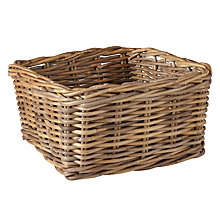 Buy John Lewis Croft Collection Unpeeled Rattan Storage Basket Online at johnlewis.com