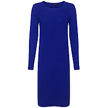 Buy Jaeger Wool Ottoman Knit Dress, Ultra Violet Online at johnlewis.com