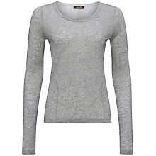 Buy Jaeger Seam Detail Long Sleeve Top, Light Grey Melange Online at johnlewis.com