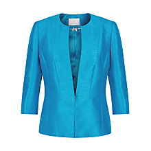 Buy Jacques Vert Collarless Jacket, Aegean Online at johnlewis.com