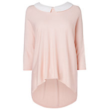 Buy Phase Eight Winnie Collar Jumper, Pale Pink Online at johnlewis.com