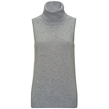 Buy Jaeger Cashmere Sleevless Roll Neck Jumper Online at johnlewis.com