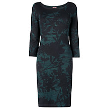 Buy Phase Eight Etienne Print Dress, Black/Petrol Online at johnlewis.com