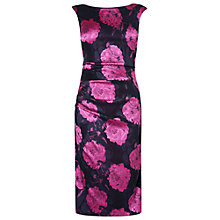 Buy Phase Eight Opera Flower Dress, Cerise/Black Online at johnlewis.com