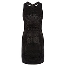 Buy Coast Devona Animal Textured Dress, Black Online at johnlewis.com