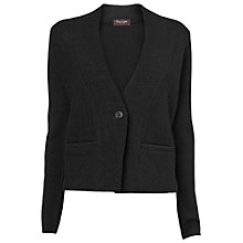 Buy Phase Eight Jaime Knitted Jacket, Black Online at johnlewis.com