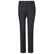 Buy Phase Eight Martha Checked Trousers, Navy Online at johnlewis.com