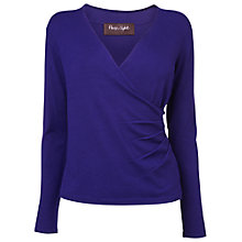 Buy Phase Eight Wilma Wrap Jumper, Royal Purple Online at johnlewis.com