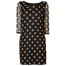 Buy Phase Eight Spot Lace Tunic Dress, Black/Camel Online at johnlewis.com