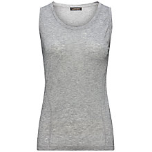 Buy Jaeger Seam Detail Top, Light Grey Melange Online at johnlewis.com