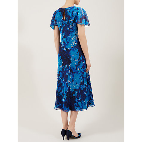 Buy Jacques Vert Fit And Flare Hydrangea Dress, Aegean Online at johnlewis.com