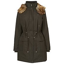 Buy Phase Eight Diana Parka Coat, Khaki Online at johnlewis.com