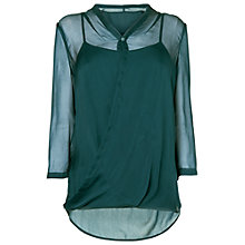Buy Phase Eight Irene Wrap Silk Top, Pine Online at johnlewis.com
