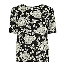 Buy Phase Eight Marcie Floral Shift Top, Black/Stone Online at johnlewis.com