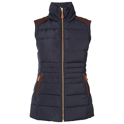 Buy Phase Eight Georgie Gilet, Navy Online at johnlewis.com