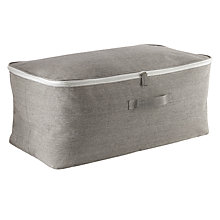 Buy John Lewis Grey Chambray Underbed Storage Bag Online at johnlewis.com