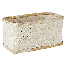 Buy John Lewis Whitewashed Bamboo Storage Basket Online at johnlewis.com