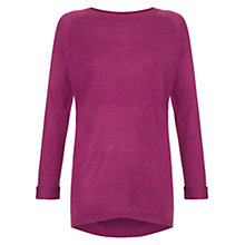 Buy Warehouse Roll Up Sleeve Boyfriend Jumper Online at johnlewis.com