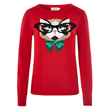 Buy Louche Kat Knit Jumper, Red Online at johnlewis.com