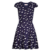 Buy Louche Cathleen Swan Dress, Navy Online at johnlewis.com
