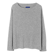 Buy Winser Audrey Cashmere Jumper, Grey Melange Online at johnlewis.com