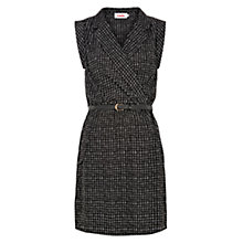 Buy Louche Zina Check Dress, Black/White Online at johnlewis.com