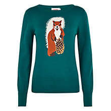 Buy Louche Nutkin Knit Jumper, Green Online at johnlewis.com