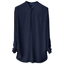 Buy Winser Long length Silk Tunic Top, Midnight Online at johnlewis.com