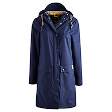Buy Joules Right as Rain Seafarer Rubber Coated Mac, Marine Navy Online at johnlewis.com
