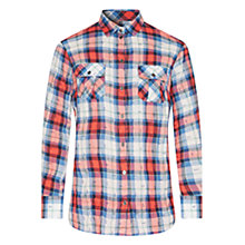 Buy Barbour Hurstpoint Shirt, Red/blue Check Online at johnlewis.com