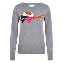 Buy Louche Lovebird Knit Jumper, Grey Online at johnlewis.com
