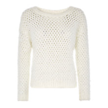 Buy Louche Eres Knit Jumper, Off White Online at johnlewis.com
