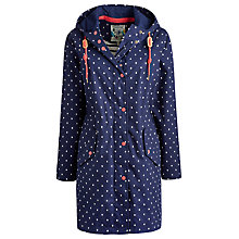 Buy Joules Right as Rain Waterproof Parka, French Navy Spot Online at johnlewis.com
