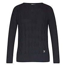 Buy Barbour Braye Jumper, Navy Online at johnlewis.com