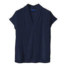 Buy Winser V-Neck Silk Top, Midnight Online at johnlewis.com