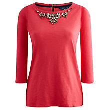 Buy Joules Gemma Jewel Top, Neon Pink Online at johnlewis.com
