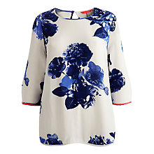 Buy Joules Eden Shell Top, Cream Butterfly Floral Online at johnlewis.com