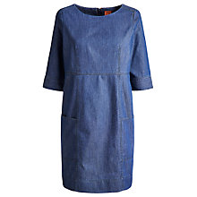 Buy Joules Aberly Dress, Dark Chmabray Online at johnlewis.com
